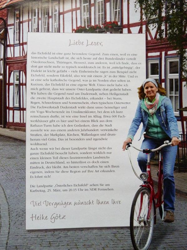 Landpartie – Unterwegs im Eichsfeld mit Heike Götz 2